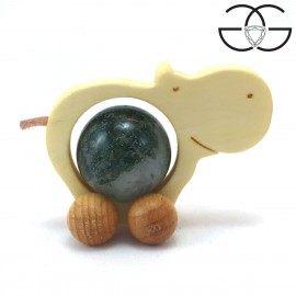 Hippopotamus balls holder