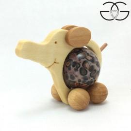 Elefantino porta sfere